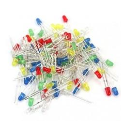 Zestaw diody LED - 5mm - 15 szt. - 3 kolory