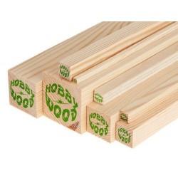 Listwa sosnowa 10x10x1000 mm