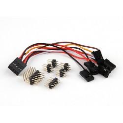 Przewody do kontrolera Naze32 - komplet przewodów i wtyków