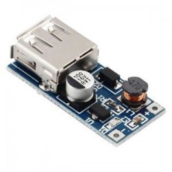 Zasilacz USB 5V 600mA - awaryjne zasilanie USB z jednej celi lipola 1S