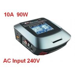 Ładowarka cyfrowa T690AC NEW 90W/10A - ekran dotykowy TFT - zasilanie AC/DC 12V/230V