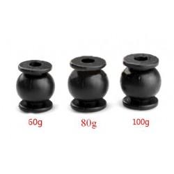 Wibroizolator 14mm/12mm - 60g obciążenie - czarny - tłumik drgań, damper, amortyzator - 1 szt
