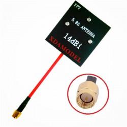 Antena Panelowa 5,8GHz 14dBi - RX - SMA plug - odbiorcza - antena kierunkowa do dalekich zasięgów