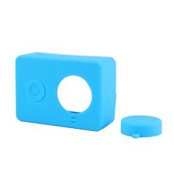 Xiaomi Yi - etui silikonowe + osłonka - niebieskie