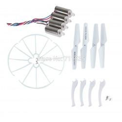 Syma X5SC / X5SW - Zestaw naprawczy - biały - śmigła, nogi, osłony, 4x silnik