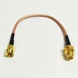 Kabel przejściówka SMA - RPSMA męska - 15cm