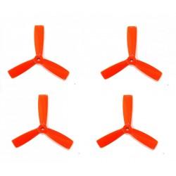 Śmigła DAL Bullnose T5045BN - orange - Tri-blade - 5x4,5x3 - 2xCW/2xCCW - DALPROP 4 szt