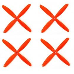 Śmigła DAL QJ5045 - orange - Quad-Blade - 5x4,5x4 - 2xCW/2xCCW - DALPROP 4 szt