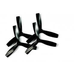 Śmigła HQProp Durable 4x4,5 3-blades CW/CCW - czarne - bardzo wytrzymałe śmigła - 4 szt