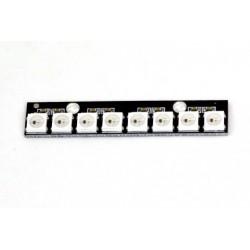 Wielokolorowe paski 8xRGB LED WS2812B - do dronów wyścigowych - Matek 2812-8
