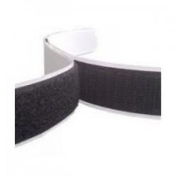 Rzep z klejem 50mm x 100mm - kolor czarny - samoprzylepny