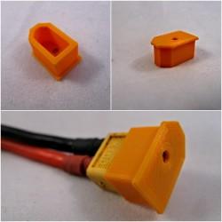 Osłonka na wtyk XT60 - pomarańczowa - Zabezpieczenie złącza