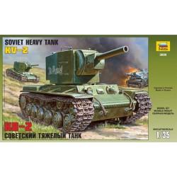 Zvezda 3608 KV-2 - czołg ciężki - 1:35