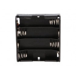 Koszyczek na baterie 4xAA (R6) - płaski otwarty BH-341-1A
