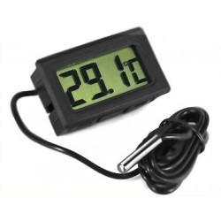 Termometr LCD z sondą w obudowie (-50C do 70C)