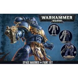 SPACE MARINES + PAINT SET WARHAMMER 40000