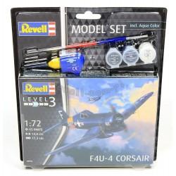 F4U-4 Corsair - Revell - 63955 - Zestaw z klejem i farbami