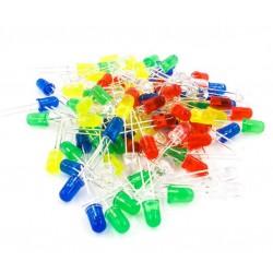 Zestaw diody LED - 5mm - 20 szt. - 4 kolory