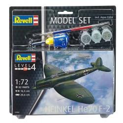 Heinkel He 70 F-2 - Revell - 63962 - Zestaw z farbami i pędzlem
