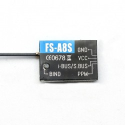 Odbiornik Flysky Micro FS-A8S 2,4G 8-CH - PPM iBUS - do FS-i10 FS-i8 FS-i6 FS-i6