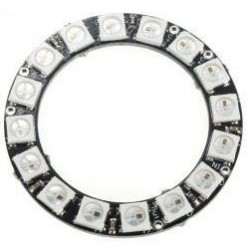 Oświetlenie - Pierścień LED RGB 16 x WS2812 5050