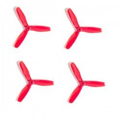 Śmigła DAL V2 T5045 - Red - Tri-blade - 5x4,5x3 - 2xCW/2xCCW - DAL-PROP 4 szt