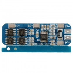 Moduł ładowania Li-ion 3S 12V 6-8A - do ogniw 18650 - niebieskia płytka