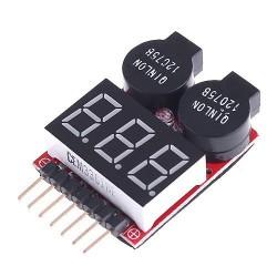 Buzzer - miernik napięcia z alarmem 1-8S