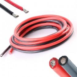 Przewód silikonowy 22AWG - 66 żył - 0,33 mm2 - czarny - elastyczny