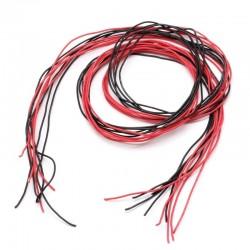 Przewód silikonowy 26AWG - 28 żył - 0,14 mm2 - czerwony - elastyczny