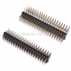 Listwa kołkowa 2,54mm 3x20 pinów - kątowa + prosta - goldpin