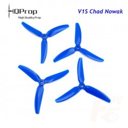 Śmigła HQProp Triple 5x4x3 V1S Chad Nowak - 3-blades CW/CCW - Blue - 4 szt