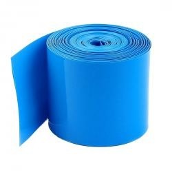 Folia termokurczliwa - rękaw PVC szer. 50mm - niebieska - na 1 akumulator 18650 - 1mb