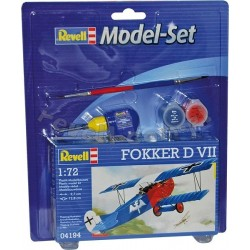 Fokker D VII - REVELL - 64194 - Zestaw z klejem i farbami