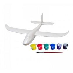 Szybowiec rzutka Hawk 560 mm - rzutek dla dzieci z farbami do malowania