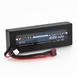 Redox RACING 4000 mAh 7,4V 50C Hardcase - samochodowy pakiet LiPo