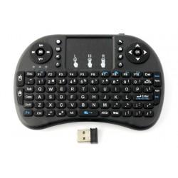 Klawiatura bezprzewodowa + touchpad Mini Touch - czarna - na baterie AAA