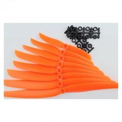 Śmigło 8x4 - orange - śmigło 8040 z wkładką redukcyjną