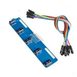 Moduł śledzenia linii - 5-drożny tracker sensor do robotów Arduino - TCRT5000L