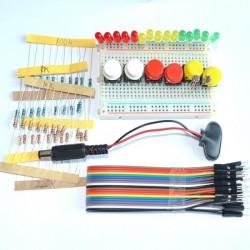 Zestaw do Arduino KIT - rezystory, diody, przełączniki, zworki, płytka stykowa