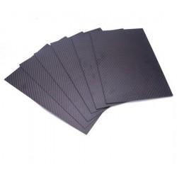 Płyta Carbon 1mm 200x300mm - tkanina węglowa 3K - splot TWILL