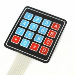 Klawiatura membranowa 16 klawiszy (4x4) - samoprzylepna - Arduino