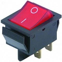 Przełącznik podświetlany - RS201-6C3B 15A 250V ON-OFF - czerwony