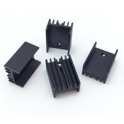 Radiator TO220 czarny - 20x15x10mm z bolcem - do stabilizatorów, tranzystorów