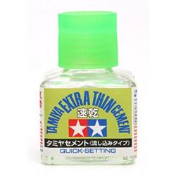 Tamiya 87182 Klej Extra Thin 40 ml - szybkoschnący (Tamiya Extra Thin Cement (Quick-Setting)