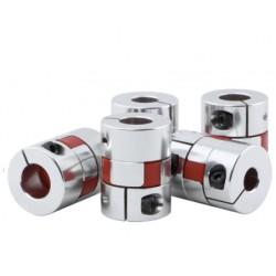 Sprzęgło kłowe 6x6,35mm - D25 L30 - bezluzowe - CNC / Drukarki 3D / Lasery