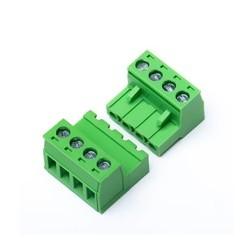 Złącze zasilające - 4 pin - zaciski śrubowe - męskie + żeńskie - do silników krokowych