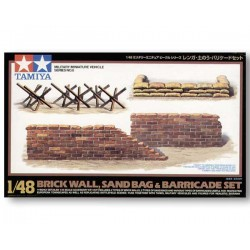 Tamiya 32508 Brick Wall, Sand Bag & Barricade Set