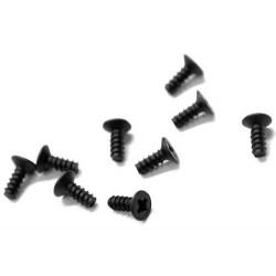 Śruby samogwintujące z łbem stożkowym 3*8mm - 9szt 86077