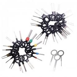 Wyjmaki do demontażu PIN'ów - 41 szt - zestaw kluczy do wypinania złączek elektryki